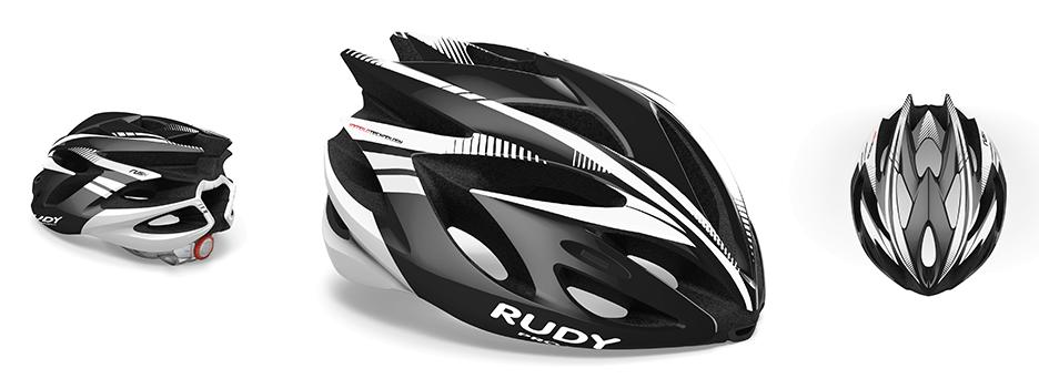 RUDY RUSH BLACK/WHITE SHINY